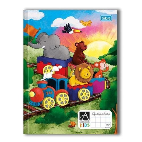 CADERNO BROCHURA CD QUADRICULADO 1X1 KIDS 40FLS