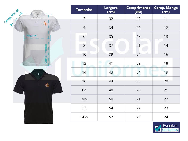 camiseta polo high school Positivo