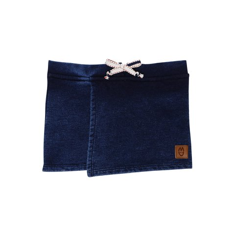 short saia moletom denim frente