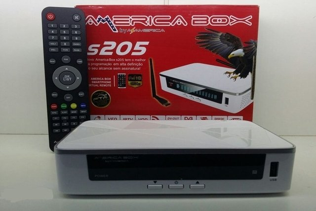 Receptor AmericaBox S205 Plus Acm HD 1080p IPTV c/ Wifi Mesmo AZ S1009 na internet