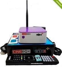Receptor Cinebox Fantasia Maxx + Plus ACM Envio Imediato Hd com wifi 3 Tunner Conversor Tv digital Integrado Hdmi