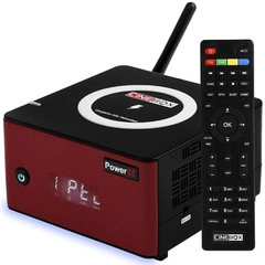 Receptor Cinebox Power X ACM com wifi sks iks Iptv Vod Cabo audio e video H265 Carregador de alta Velocidade