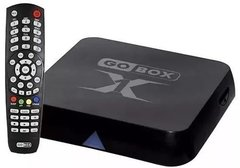 Receptor Gobox X1 Box Tv Android Receptor Fta Wi Fi Com Bluetooth  e Dejavu TV mais de 120 canais.