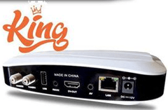 Receptor Azamerica King 4K Ultra HD Acm DLNA IPTV c/ Wifi e Base Linux na internet