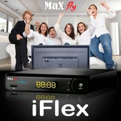 Receptor Max Fly iFlex HD Entrada AV audio e video HDMI e Wifi Maxfly na internet
