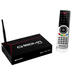 Receptor Alphasat Chroma Plus Iptv H265 ACM OnDemand 2 tunner iks e sks