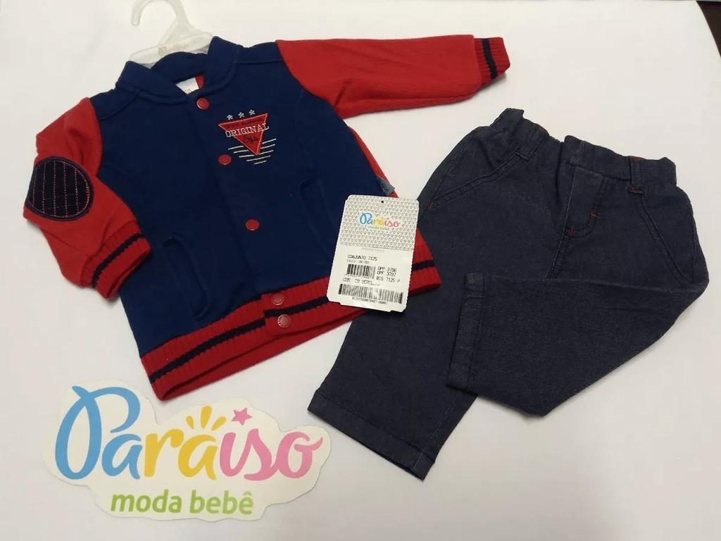 72f4988083118 ... Conjunto Moda Bebe Menino Luxo Jaqueta Inverno 7125 - Paraíso. 1. 2. 3