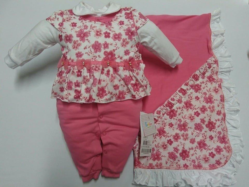 d7ca04e64 ... Moda Bebê > Saida Maternidade Floral Rosa 7571 - Paraíso. 1