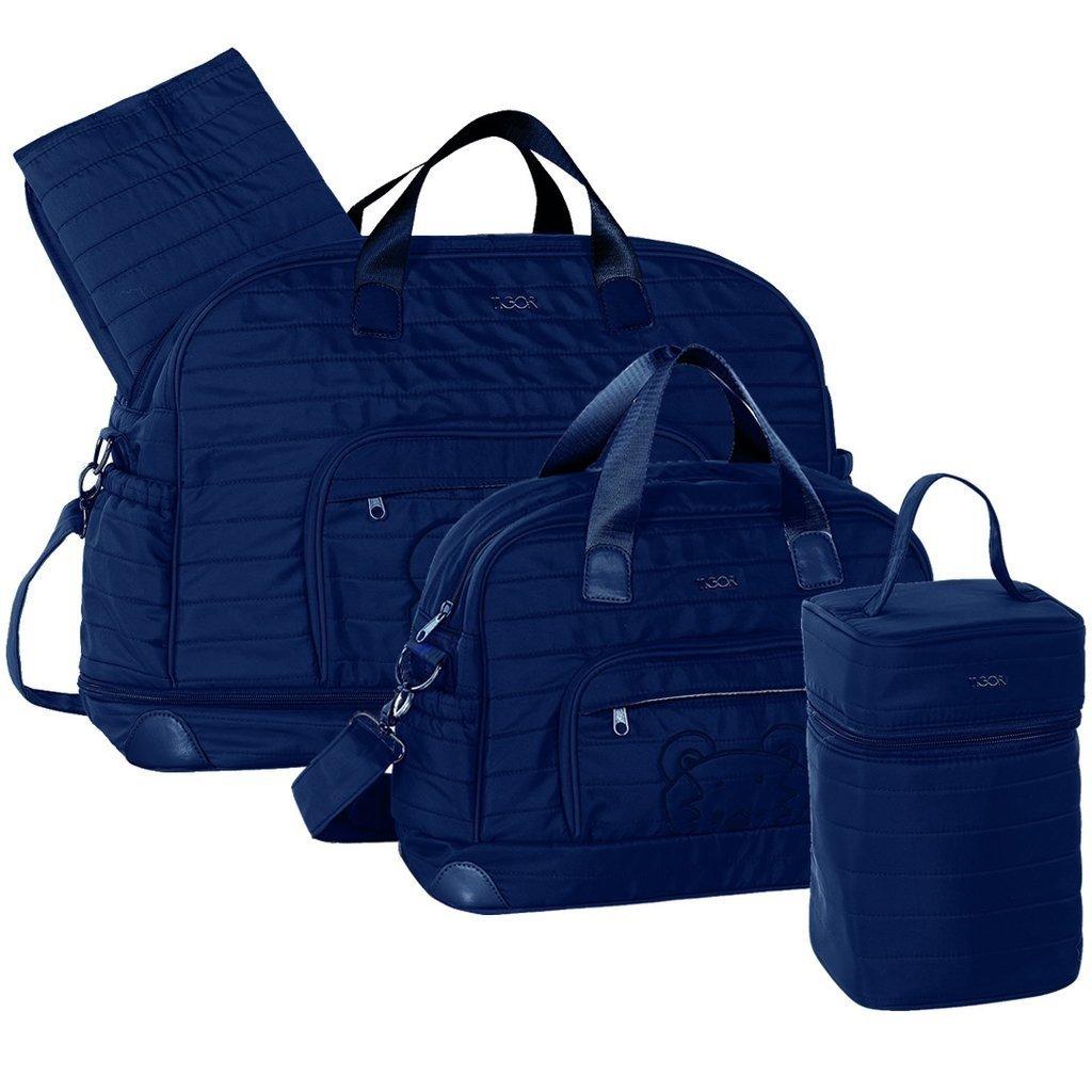 9d50777717 Kit Bolsa Maternidade Azul Marinho - Tigor T. Tigre
