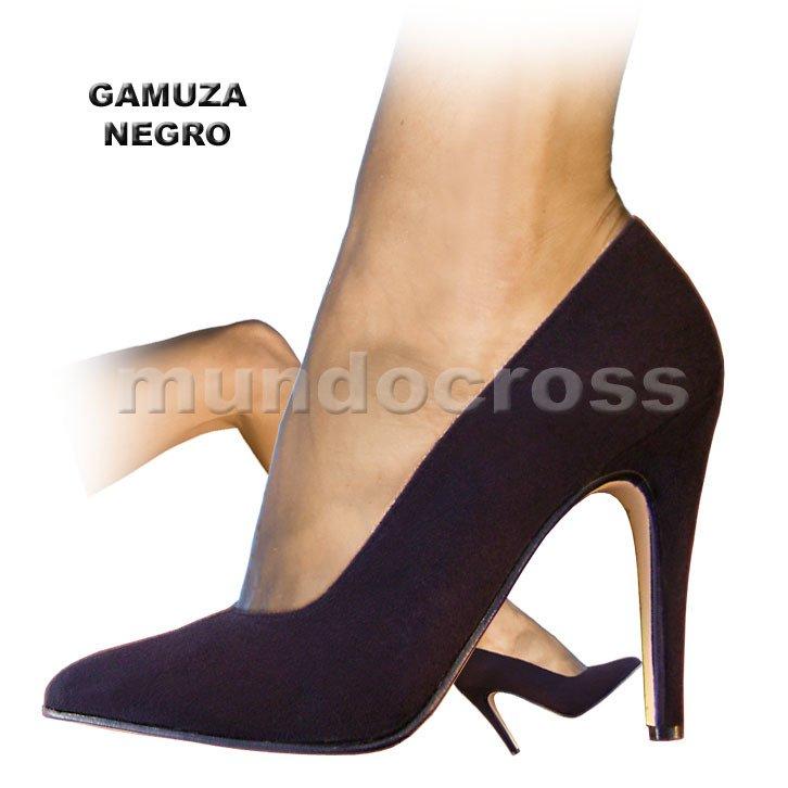 cad49553 Zapatos Stilettos Taco Aguja Muy Alto en Gamuza Negro 41 al 46