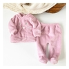 Conjunto Animals de Coral Fleece - Sofi Ultra Pink