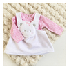 Vestido + Remera Manga Larga Teddy & Animal Print Pink