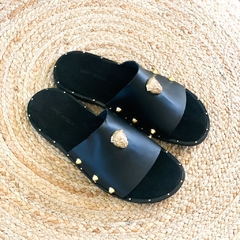 CHANCLAS LEOPARDS NEGRO