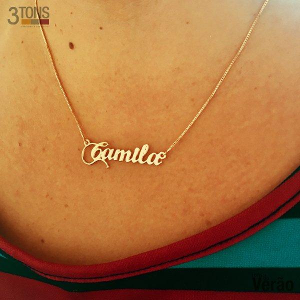 Corrente com Nome Personalizado - Camila 2 93b45609e5