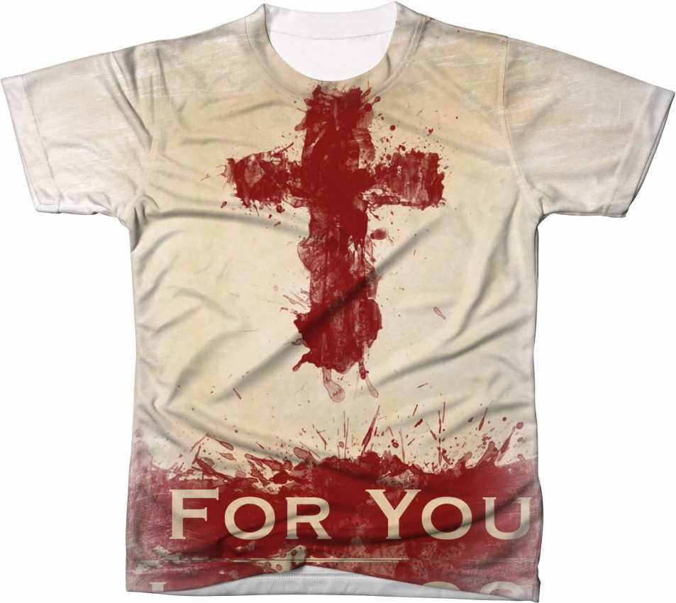 2ee94b6fa CAMISETA EVANGÉLICA JESUS CRUZ FOR YOU - reishirts