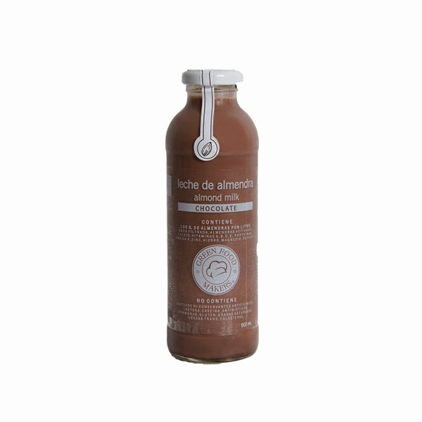 Leche de Almendras 500ml - Chocolate - Green Food Makers - comprar online