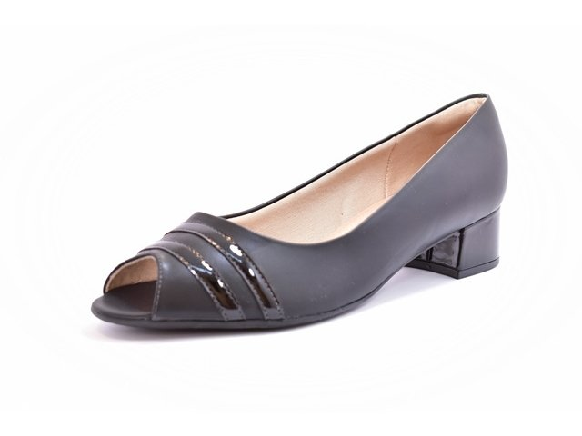 0639b32b1c Sapato Feminino Tamanho Grande Peep Toe Piccadilly Preto Numeração Especial  40 e 41