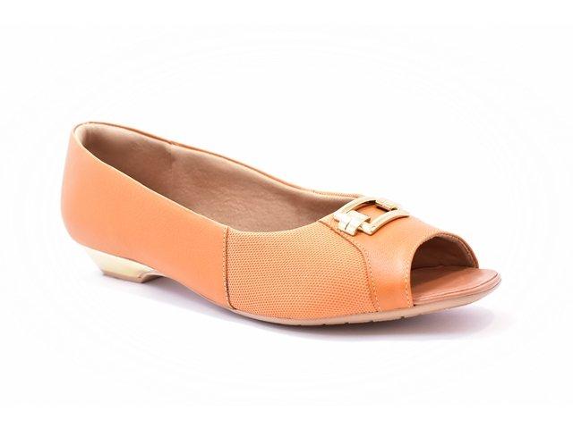 30e709c20d Sapato Feminino Tamanho Grande Peep Toe Usaflex Whishey Numeração Especial  40