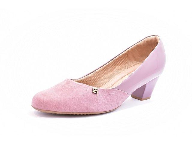 b4cb357b9 Sapato Feminino Tamanhos Grandes Scarpin Piccadilly Mauve e Preto Numeração  Especial 40 e 41