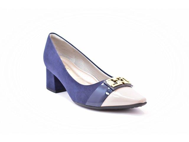 54507f09be Sapato Feminino Tamanho Grande Scarpin Piccadilly Navy Numeração Especial 40