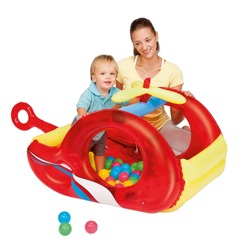 Pelotero Inflable infantil Helicoptero + 50 pelotas