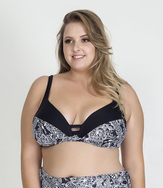 Top Plus Size Acqua Rosa - Work