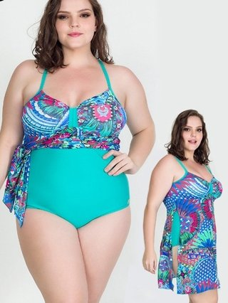 Maiô Plus Size Acqua Rosa 12744