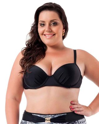 Top Plus Size Acqua Rosa - Black