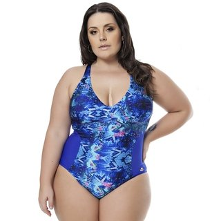 Maiô Plus Size Acqua Rosa - Royale