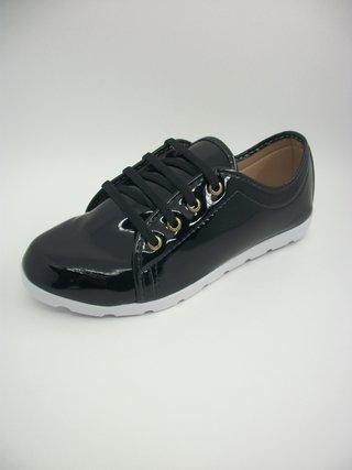 Tênis Lady Shoes Preto Solado Branco Tra... ...
