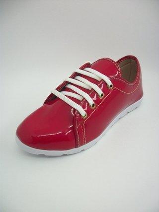 Tênis Lady Shoes Vermelho Solado Branco...