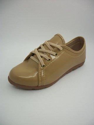 Tênis Lady Shoes Caramelo Solado Branco Tratorado