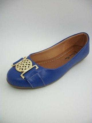 Sapatilha Iolanda Pires Azul Fivela Redonda