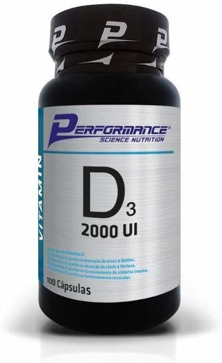 Vitamina D3 2000 UI 100 Cápsulas - Performance Nutrition