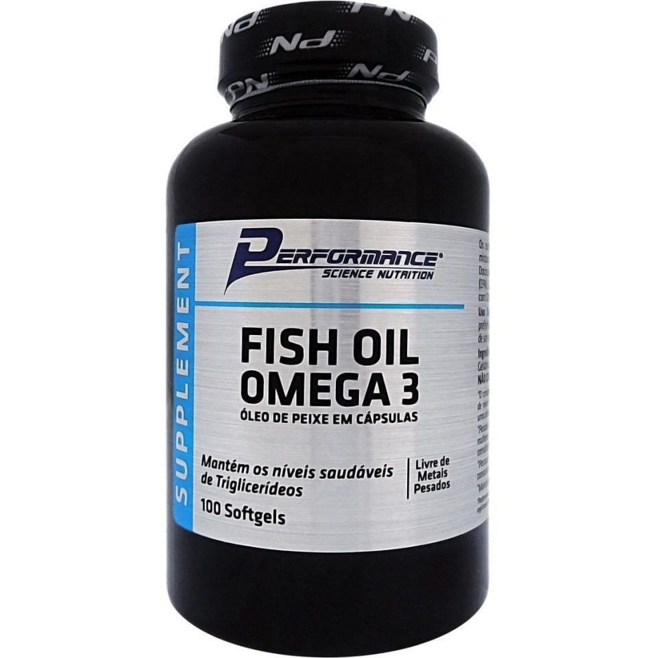 Fish Oil Omega 3 Performance Nutrition 100 softgels