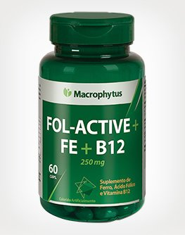 Fol-Active + FE + B12 - 250mg 60 CAPS MACROPHYTUS