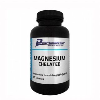 Magnesium Chelated - 100 Tabletes - Performance Nutrition - comprar online