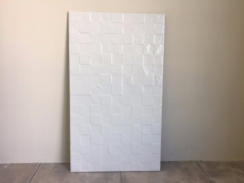 Ceramica Cortines 35x60 Blanco Damero 1era Pared - comprar online