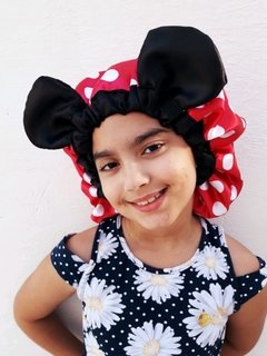 Touca de Cetim Minnie e Mickey
