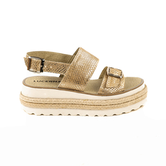 Sandalia Eco Cuero Oro 930BETTINA