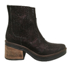 Bota Tacon Cuero Brilloso Bordo Art7115
