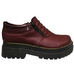 Plataforma Eco Cuero Bordo Art6006