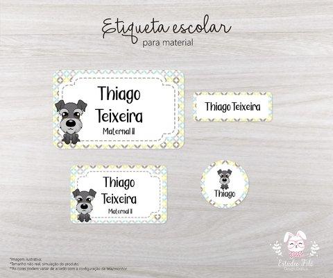 Etiqueta Escolar Dragao Kit Com 80 Etiquetas