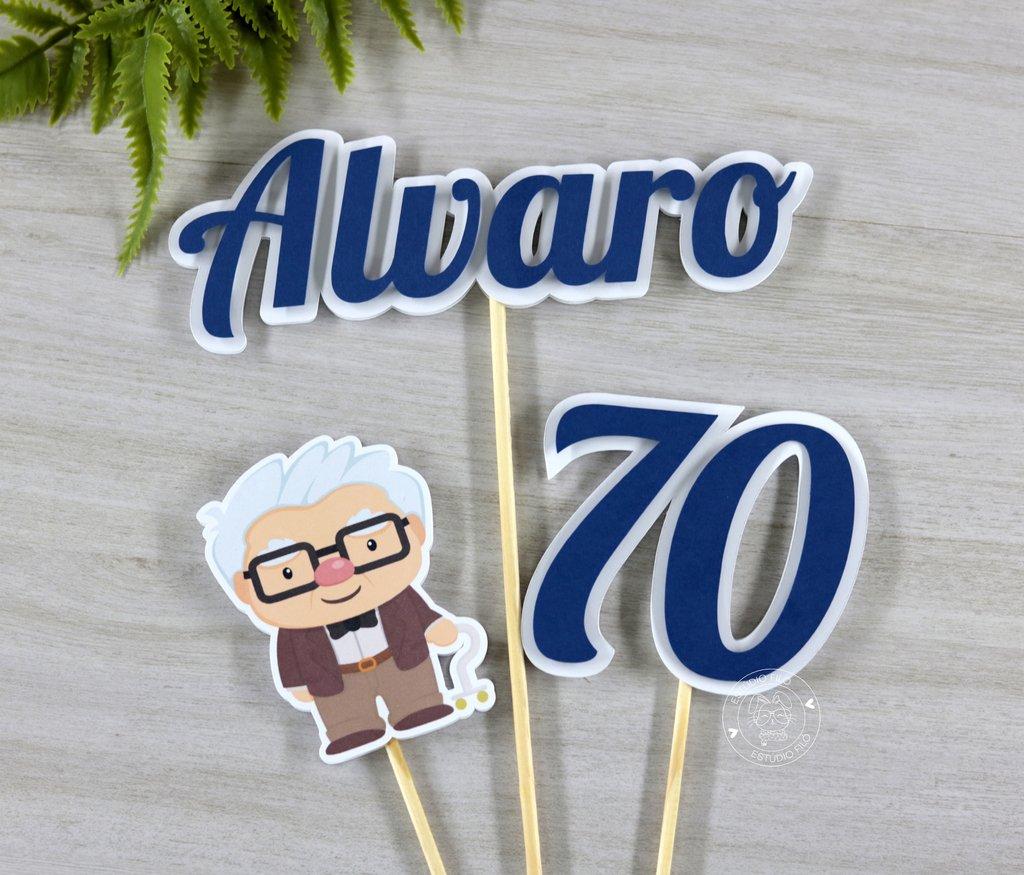 Topo De Bolo Up Altas Aventuras 70 Anos