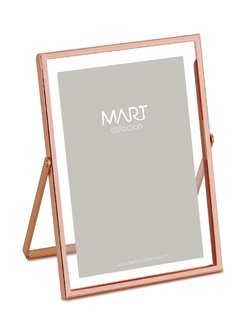Porta Retrato Rose Gold em Metal 10x15 - Mart