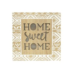 Tela Led Home Sweet Home Dourada