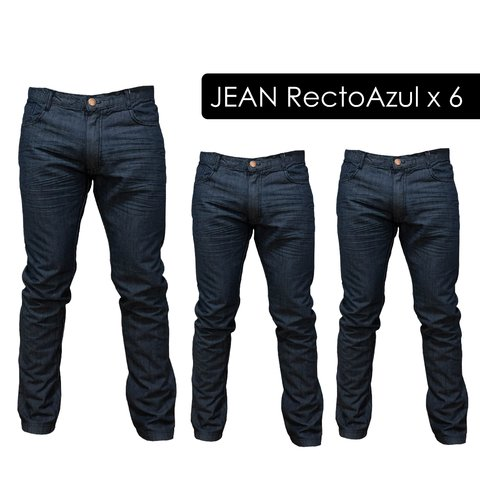 Pack Jean Recto Azul x 6