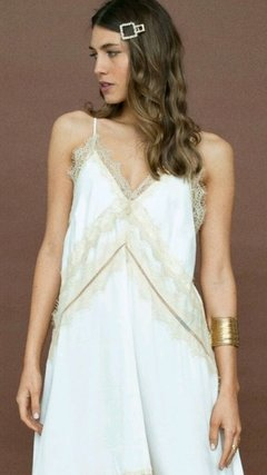 Vestido Alfonsina Off White largo