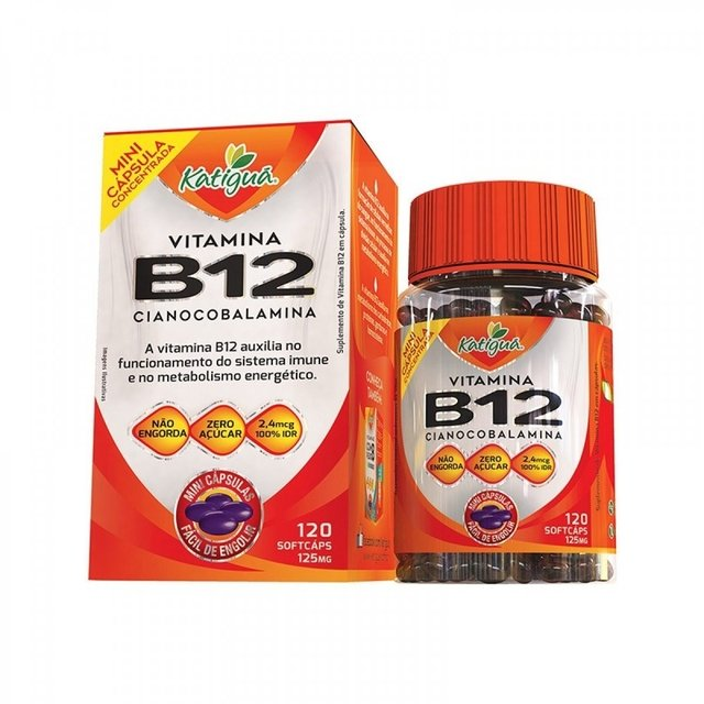 VITAMINA B12 125mg 120 CAPS - KATIGUÁ