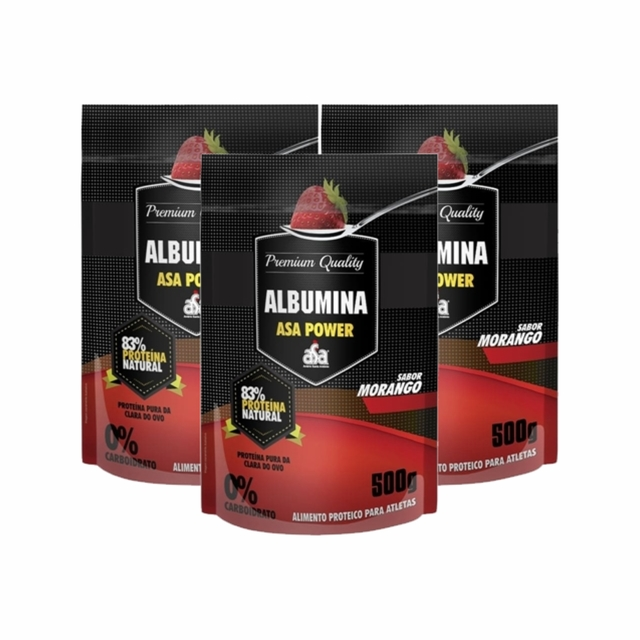 COMBO KIT 3UN. ALBUMINA PURA 500G - ASA POWER